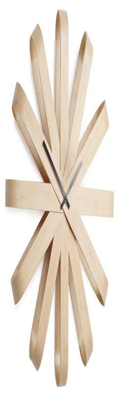 Часы настенные ribbon дерево фото
