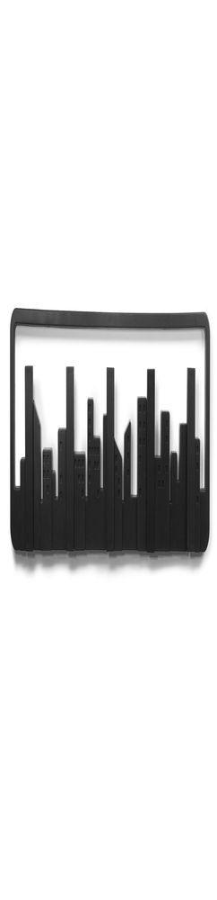 Вешалка настенная Skyline, черная фото