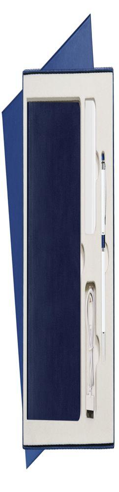 Подарочный набор Portobello/Voyage синий (Ежедневник недат А5, Ручка, Power Bank) фото