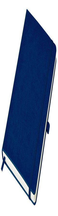 Бизнес-блокнот Justy, А5, в линейку, темно-синий фото
