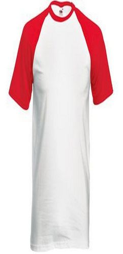 "Футболка ""Short Sleeve Baseball T"", белый с красным фото"