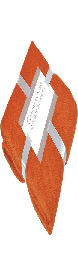 "Плед ""MOHAIR"", оранжевый,  130х150 см; акрил,    фото"