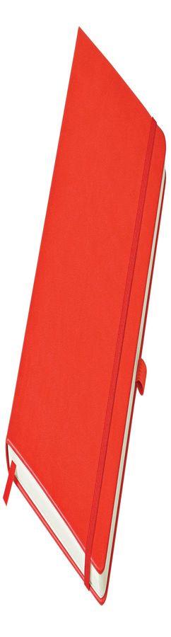 Бизнес-блокнот Justy, А5, в линейку, красный фото