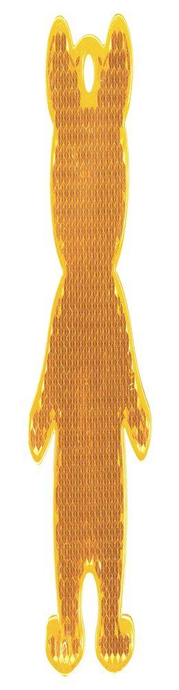 Пешеходный светоотражатель «Мишка», оранжевый фото