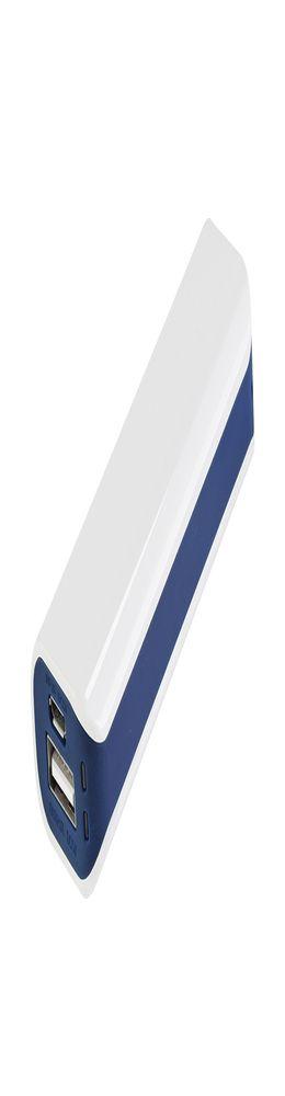 Внешний аккумулятор Aster PB, 2000 mAh, белый/синий фото