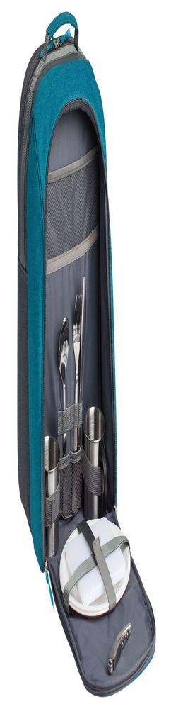 Набор для пикника Lilla Fridag на 2 персоны, серый с синим фото