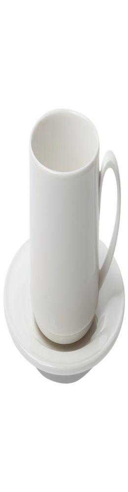 Чайная пара Maxim Diamond, молочно-белая фото