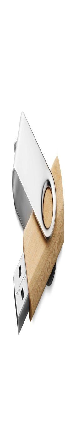 Флешка Твист, деревянная, светлое дерево, 4Гб фото