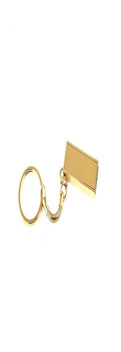 Флешка брелок Слайд мини, металлическая, золотая, 8Гб фото