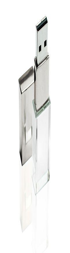 Флешка ST001 (глянец) с чипом 16 гб с красной подсветкой фото