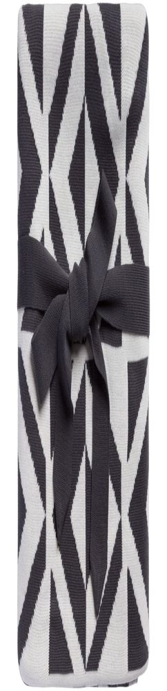 Плед Metropol, серый с молочно-белым фото