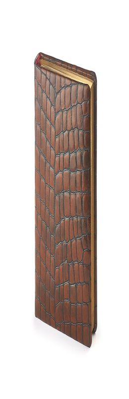 Ежедневник полудатированный York, А6+, коричневый фото
