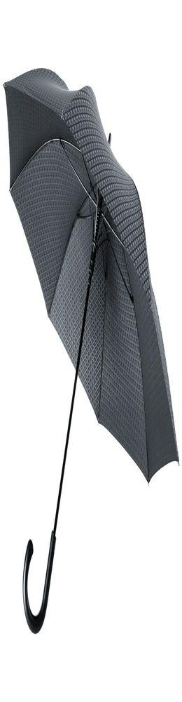 Зонт Alessio, черный с серым фото