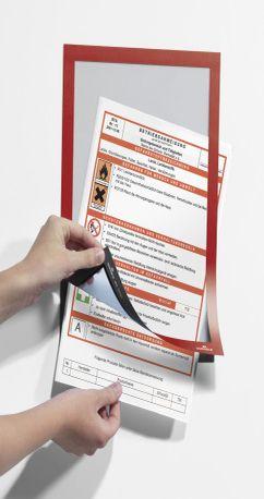 488203 Рамка информационная самоклеящаяся DURAFRAME A4 красная фото