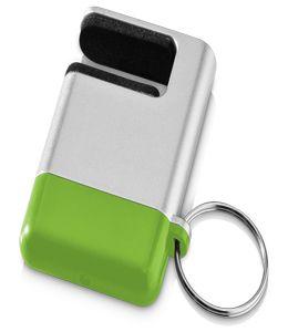 """Подставка-брелок для мобильного телефона """"GoGo""""с губкой для чистки экрана, зеленый фото"""