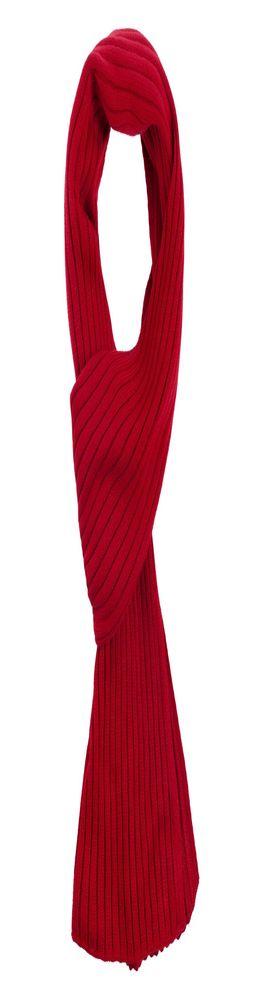 Шарф Stripes, красный (алый) фото