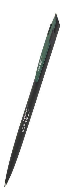 """Ручка шариковая """"Lip"""", черный/темно-зеленый, прорезиненная поверхность фото"""