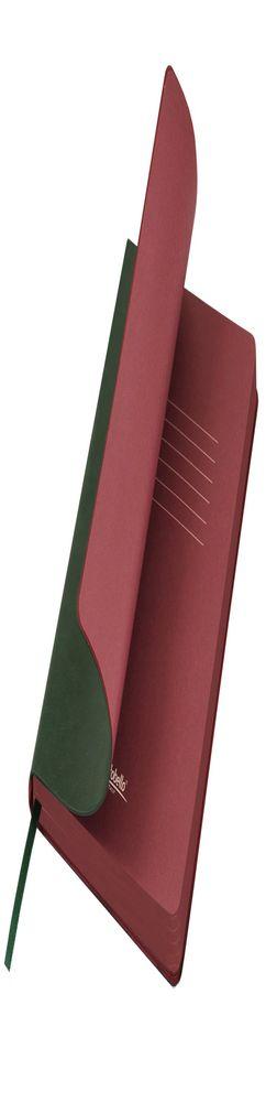 Ежедневник недатированный, Portobello Trend, River side, 145х210, 256 стр, зеленый/бургунди темный, срез,темный форзац (стикер) фото
