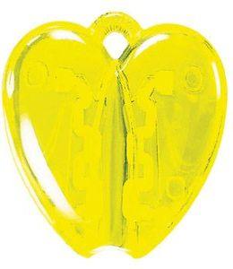 HEART CLACK, держатель для авторучки, прозрачный желтый фото