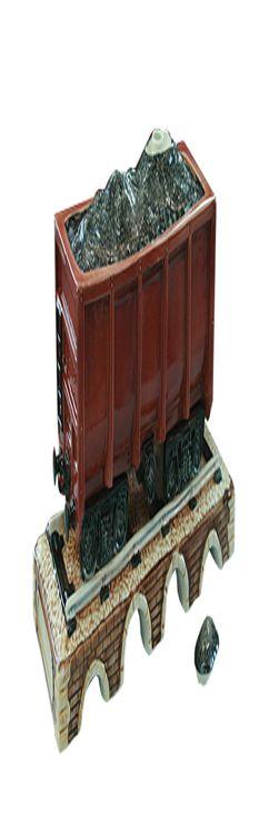 Штоф «Вагон на мосту с углем» фото