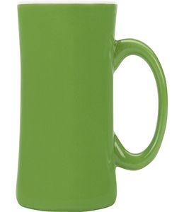 Кружка на 380 мл, белый/зеленый фото