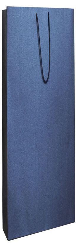 Пакет бумажный «Блеск», большой, синий фото
