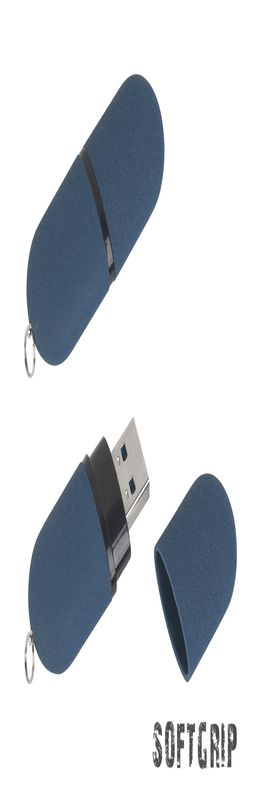 """Флеш-карта """"Камень"""" с покрытием soft grip, объем памяти 16GB фото"""