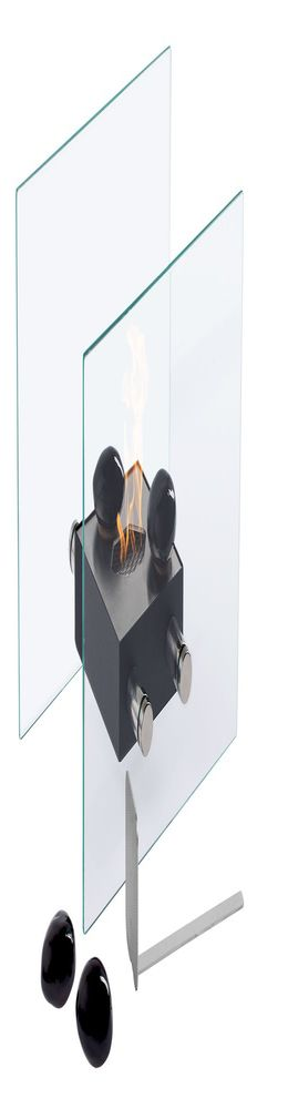 Настольный биокамин Calm, черный фото