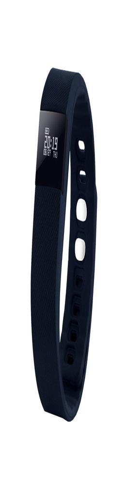 """Смарт браслет (""""умный браслет"""") Portobello Trend, The One, электронный дисплей, браслет-силикон, 240x20x10 мм, синий фото"""