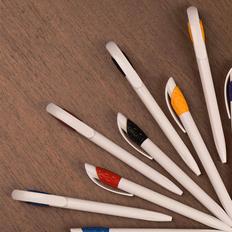 Ручка шариковая пластиковая Lecce Pen Golf, белая / синяя фото