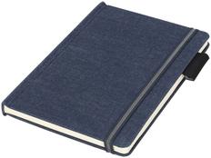 Блокнот в линейку на резинке Journalbooks Jeans А5, 80 листов, темно-синий фото