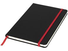 Блокнот в линейку на резинке Journalbooks Lasercut А5, 80 листов, черный/ красный фото