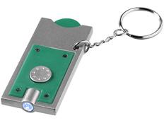 Брелок - фонарик и держатель для монет Allegro, зеленый фото