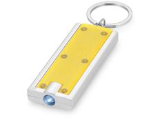 Брелок - фонарик прямоугольный Castor, желтый фото