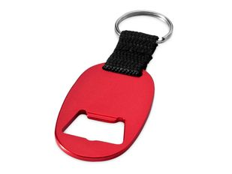 Брелок - открывашка овальный, красный фото