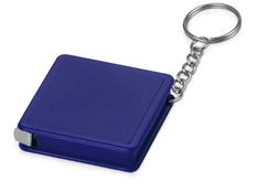 Брелок - рулетка квадратный Дюйм, синий фото
