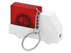 Брелок - рулетка с фонариком в форме авто Автомобиль, красный фото