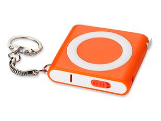 Брелок - рулетка с фонариком, оранжевый фото