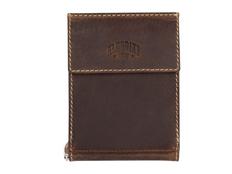 Бумажник Yukon с зажимом для денег, кожа, темно-коричневый фото