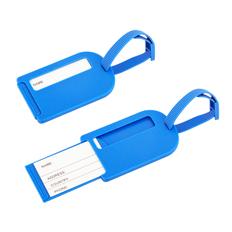 Бирка багажная Полет, синий фото