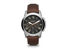 Часы наручные Fossil, мужские, d44, черный/серебряный фото