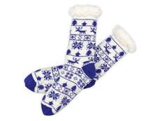 Носки домашние мужские, синие фото