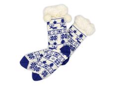 Носки домашние женские, синие фото