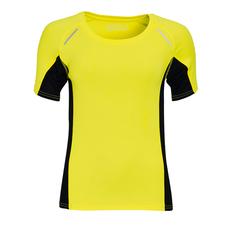 Футболка для бега женская Sol's Sydney Women 180, желтая / черная фото