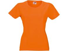 Футболка женская US Basic Heavy Super Club, оранжевая фото