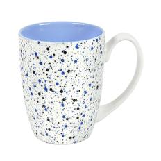 Кружка Terrazzo, белая / синяя фото