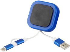 Держатель для телефона магнитный, Avenue Chariot с кабелем 3 в 1, синий фото