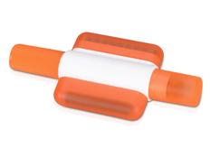 Маркер восковой с щеточками для чистки клавиатуры, белый / оранжевый фото