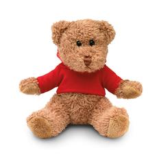 Медведь в футболке, красный фото