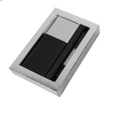 Набор Black Gun: ручка Tower, внешний аккумулятор Black gun 8000 mAh, черный/ серый фото